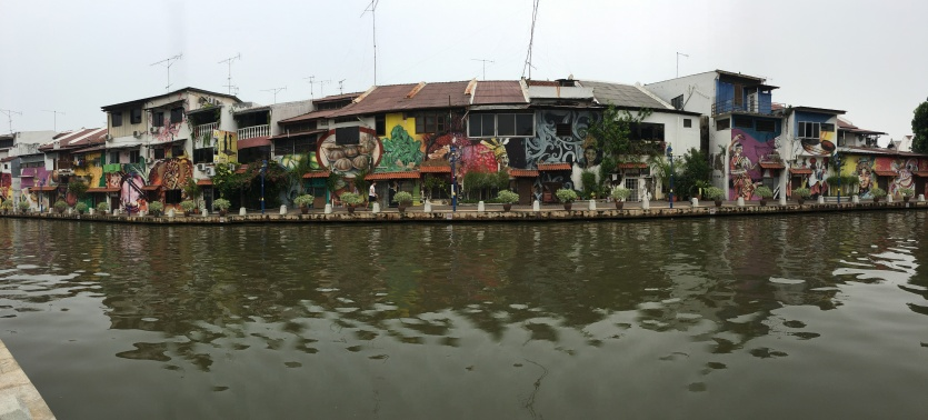 Along the river in Melacca